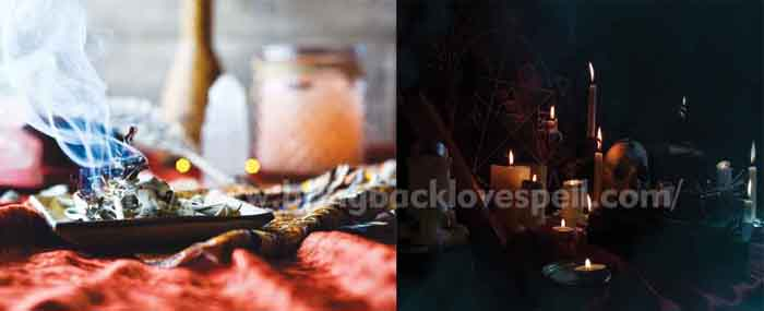 White magic and black magic love spells